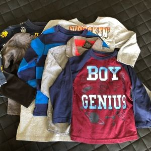 Toddler Boy Long Sleeve Shirts Lot of 7 Sz 3T